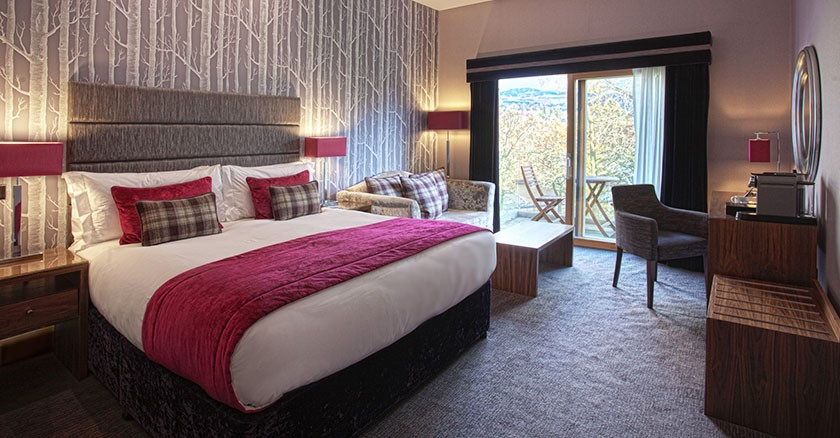 Luxury One Night, Bed and Breakfast Winter Break in a Castle Room or Woodland Lodge Superior Room